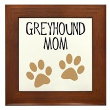 Greyhound Mom Framed Tile