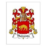 Thevenin Family Crest Small Poster