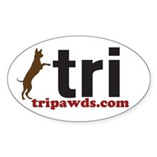 Tri Nation Standing GSD Decal
