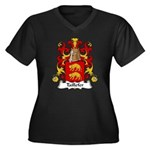 Taillefer Family Crest Women's Plus Size V-Neck Da