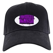 Modular Synth Purple/Black Baseball Hat