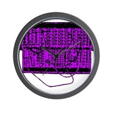 Modular Synth Purple/Black Wall Clock