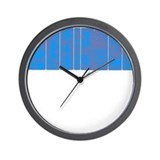 Modular Synth II Blue/Red Fuz Wall Clock