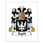 Sault Family Crest Small Poster
