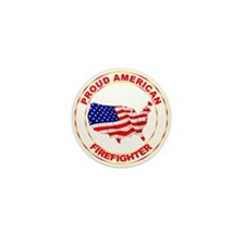 Proud American Firefighter Mini Button