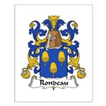 Rondeau Family Crest Small Poster