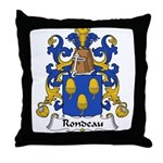 Rondeau Family Crest Throw Pillow
