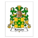 Romain Family Crest Small Poster