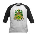 Romain Family Crest Kids Baseball Jersey