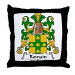 Romain Family Crest Throw Pillow