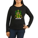 Romain Family Crest Women's Long Sleeve Dark T-Shi