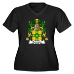 Romain Family Crest Women's Plus Size V-Neck Dark