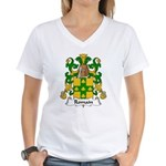 Romain Family Crest Women's V-Neck T-Shirt
