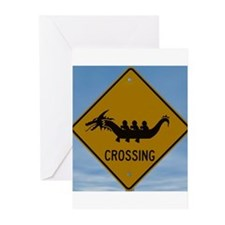 Dragon Boat Crossing Greeting Cards (Pk of 20)