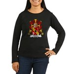 Rollet Family Crest Women's Long Sleeve Dark T-Shi