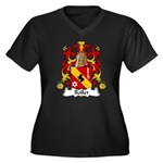 Rollet Family Crest Women's Plus Size V-Neck Dark