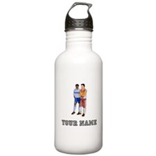 Soccer Player And Coach (Custom) Water Bottle