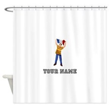 French Soccer Fan (Custom) Shower Curtain