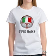 Italy Soccer Ball (Custom) T-Shirt