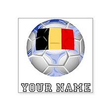 Belgium Soccer Ball (Custom) Sticker