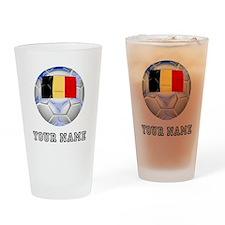 Belgium Soccer Ball (Custom) Drinking Glass