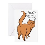 Red Persian Tail Talk Greeting Cards (Pk of 20)