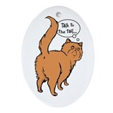 Red Persian Tail Talk Oval Ornament