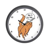 Red Persian Tail Talk Wall Clock
