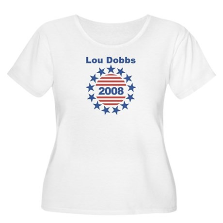 Lou Dobbs stars and stripes Women's Plus Size Scoo