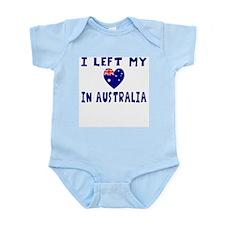 I left my heart in Australia Infant Bodysuit
