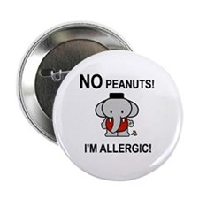 "NO PEANUTS I'M ALLERGIC 2.25"" Button (10 pack)"