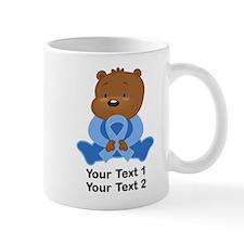 Light Blue Awareness Bear Mug