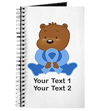 Light Blue Awareness Bear Journal