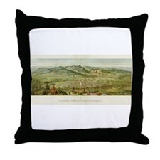 Pikes Peak, CO, 1890 Throw Pillow