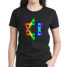 Rainbow Star of David (Dark T Tee