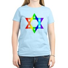 Rainbow Star of David (Dark T T-Shirt