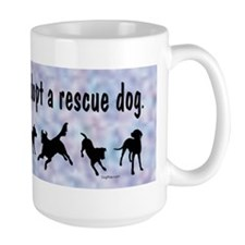 Adopt A Rescue Dog (Blue) Coffee Mug