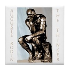 Auguste Rodin The Thinker Tile Coaster