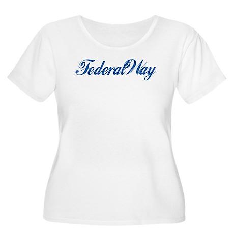 Federal Way (cursive) Women's Plus Size Scoop Neck