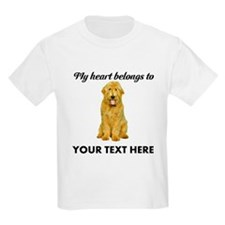 Personalized Goldendoodle Kids Light T-Shirt