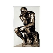 Rodin Thinker Remake Rectangle Magnet