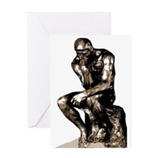 Rodin Thinker Remake Greeting Card