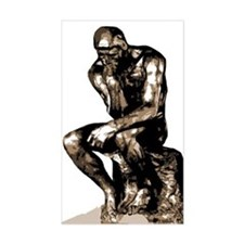 Rodin Thinker Remake Rectangle Decal