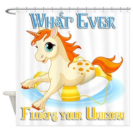 What Ever Floats Your Unicorn Shower Curtain