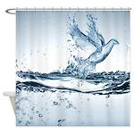 Fantasy Water Bird Shower Curtain