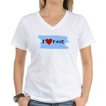 I LOVE FAYE Women's V-Neck T-Shirt