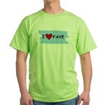 I LOVE FAYE Green T-Shirt