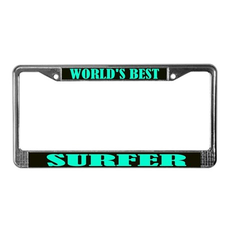World's Best Surfer License Plate Frame