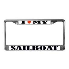 Love My Sailboat License Plate Frame