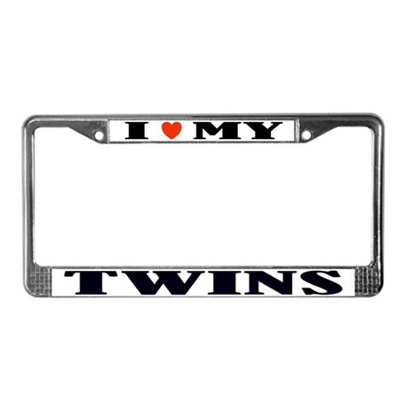 Twins Love License Plate Frame